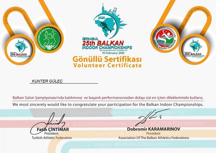 25.Balkan Salon Atletizm Şampiyonası