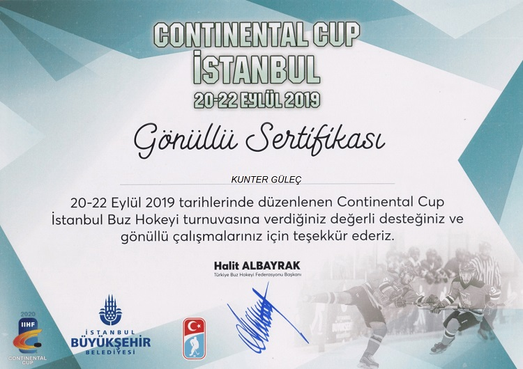 Buz Hokeyi Avrupa kupası (Continental Cup)