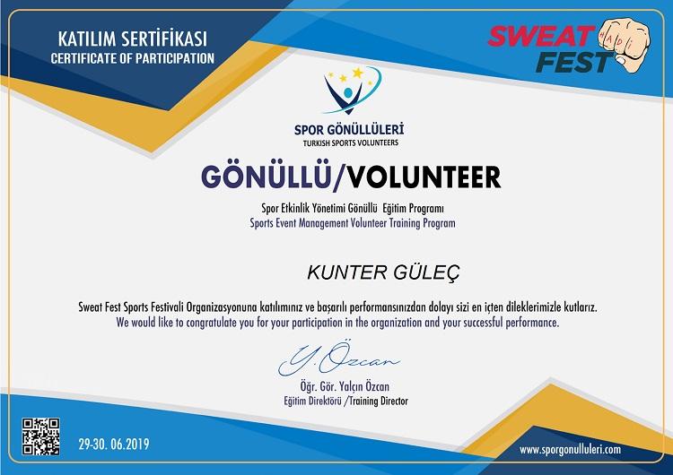 SWEAT FEST 2019 SPOR FESTİVALİ