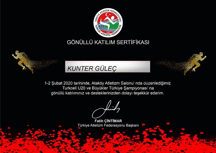 U20 Büyükler Türkiye Salon Atletizm Şampiyonası