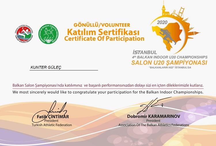 U20 Balkan Salon Atletizm Şampiyonası