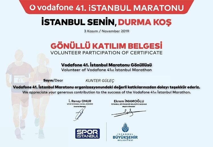 Vodafone 41. İstanbul Maratonu 2019